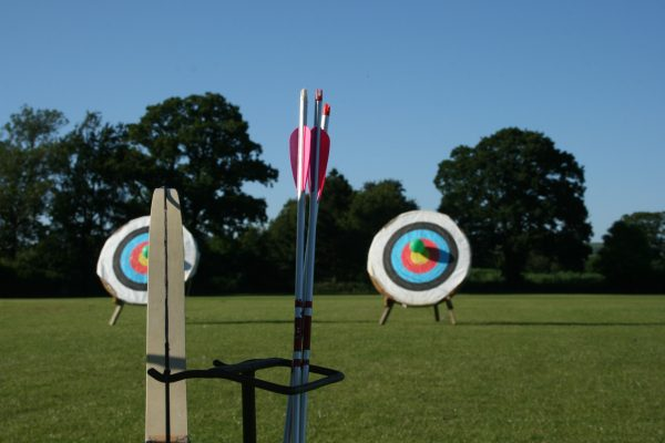 Archery with outdoor targets